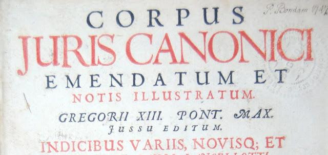 Corpus Iuris Canonici e Historia del Derecho