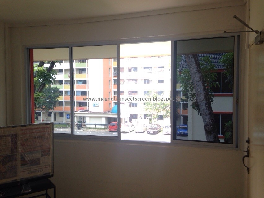 4 Panel Sliding Window : Diy magnetic insect screen singapore sliding window