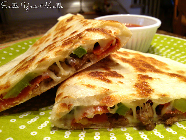 Pizzadillas! Make these pizza quesadillas for all the flavors of pizza made quickly like a quesadilla.