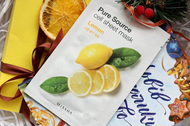 Missha Pure Source Cell Sheet Mask Lemon Тканевая маска для лица с освежающим эффектом