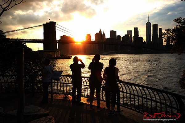 My own 'KODAK' moment, Manhattan from Dumbo Brooklyn. Street Fashion Sydney, New York Edition photographed by Kent Johnson.