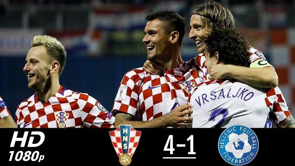 cuplikan gol kroasia vs yunani 4-1