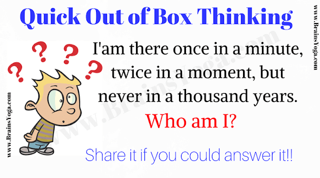 Quick Lateral Thinking Puzzle