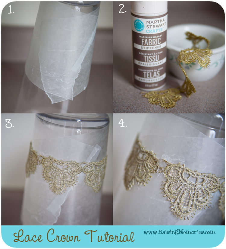 How to make a DIY Photography Prop Crown from Lace