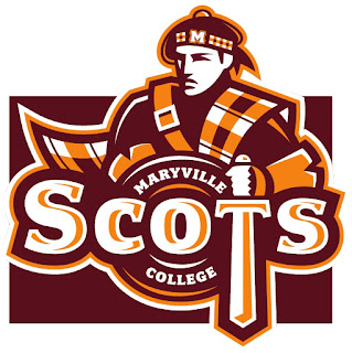 the mascot of the college is a scot, with plaid of orange and garnet