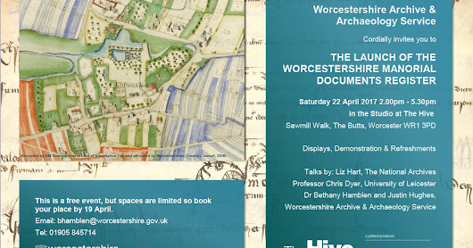 Celebrating the launch of the Worcestershire Manorial Document Register