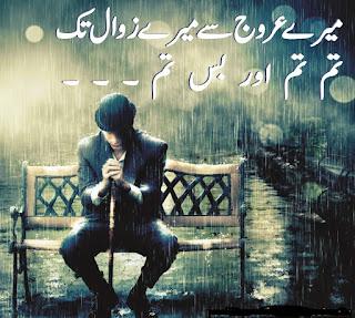Mere urooj se mere zawal tak   Tum tum aur bss tum Urdu Poetry lovers 2 line Urdu Poetry, Sad Poetry, Dard Shayari,