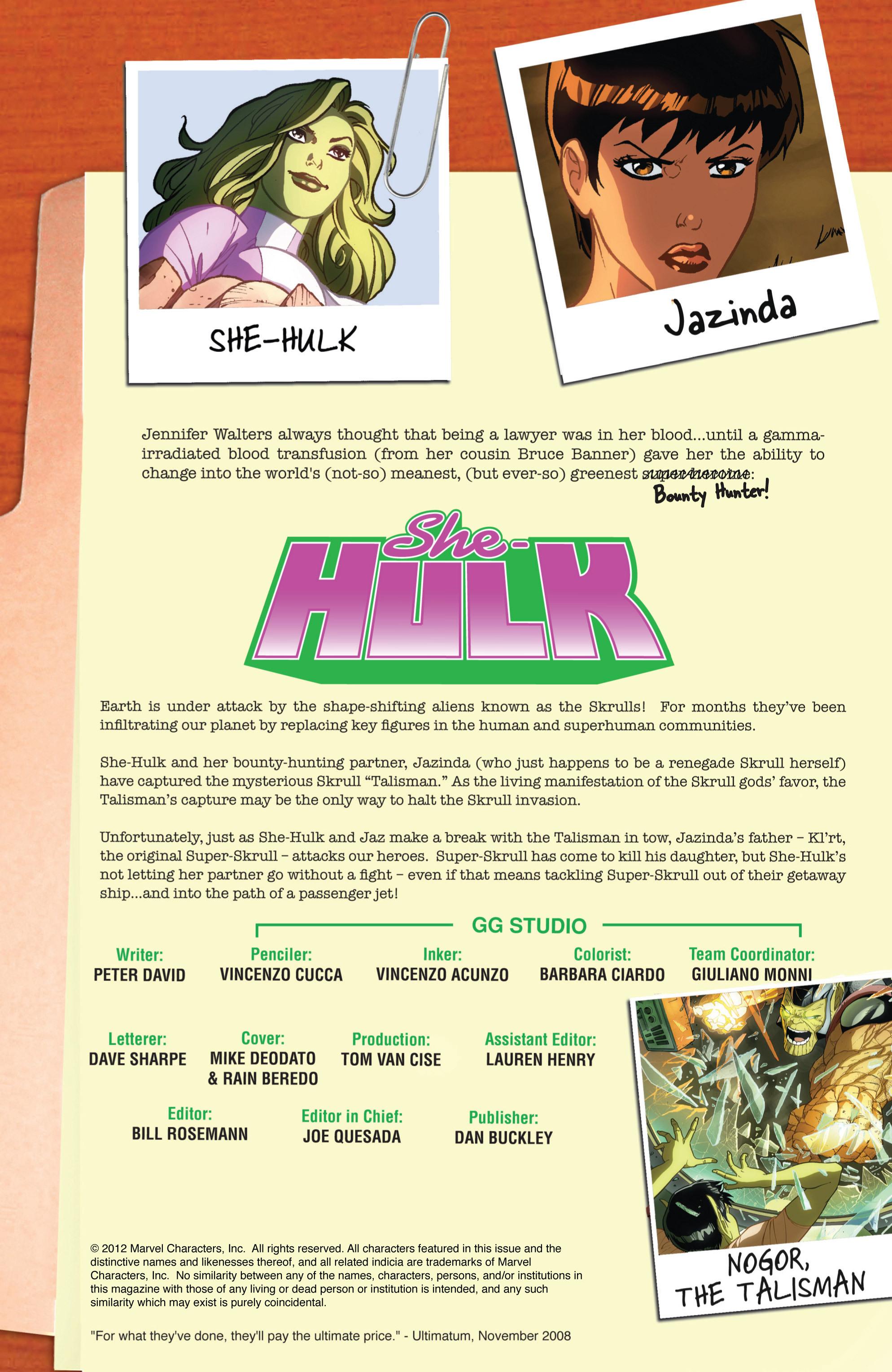 Read online She-Hulk (2005) comic -  Issue #33 - 2
