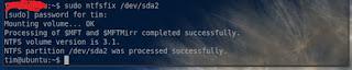 repair ntfs hard disk drive