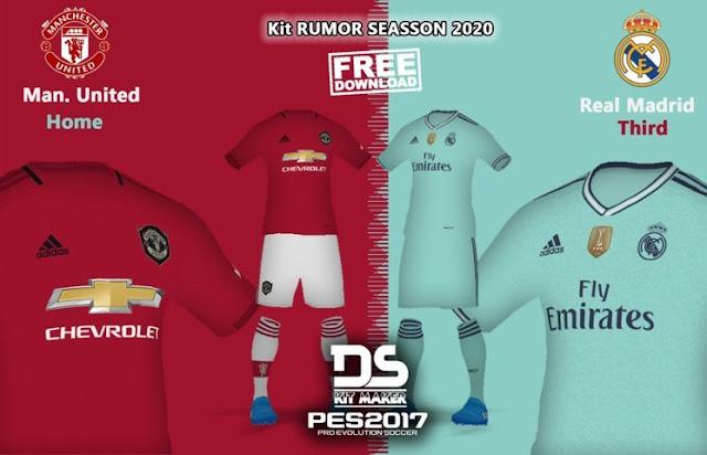 4445e4862 Man United   Real Madrid 19-20 Kits Leaked - PES 2017 - PES FREE ...