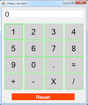 make a calculator using c#