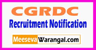 CGRDC Chhattisgarh Road Development Corporation Recruitment Notification 2017 Last Date 05-08-2017