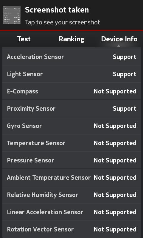 Nokia X2 Hands-on Sensors