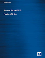 DB, annual, report, 2015, front page