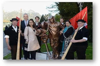 Yash Chopra statue Switzerland