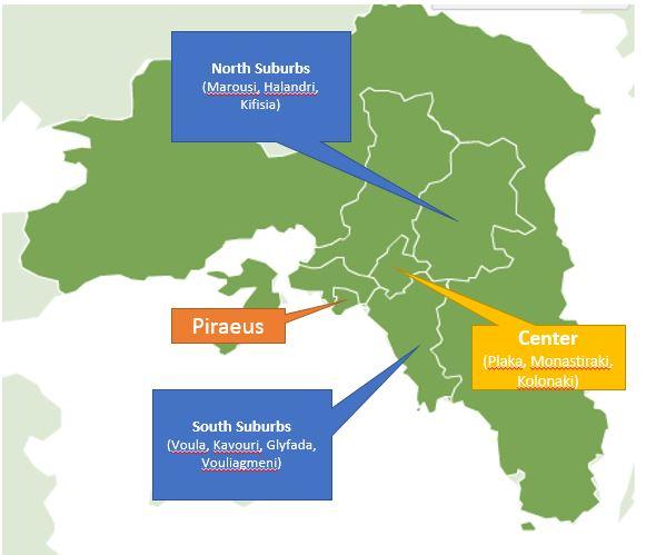 Regiões de Atenas