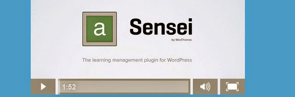 Sensei plugin for creating and selling courses