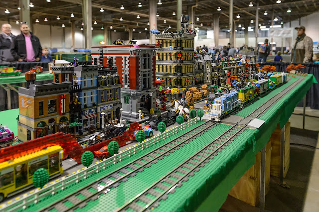 Lego Layout at The World's Greatest Hobby on Tour