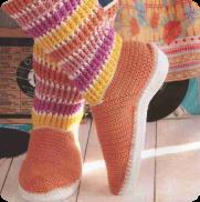 Botas Juveniles a Crochet o Ganchillo