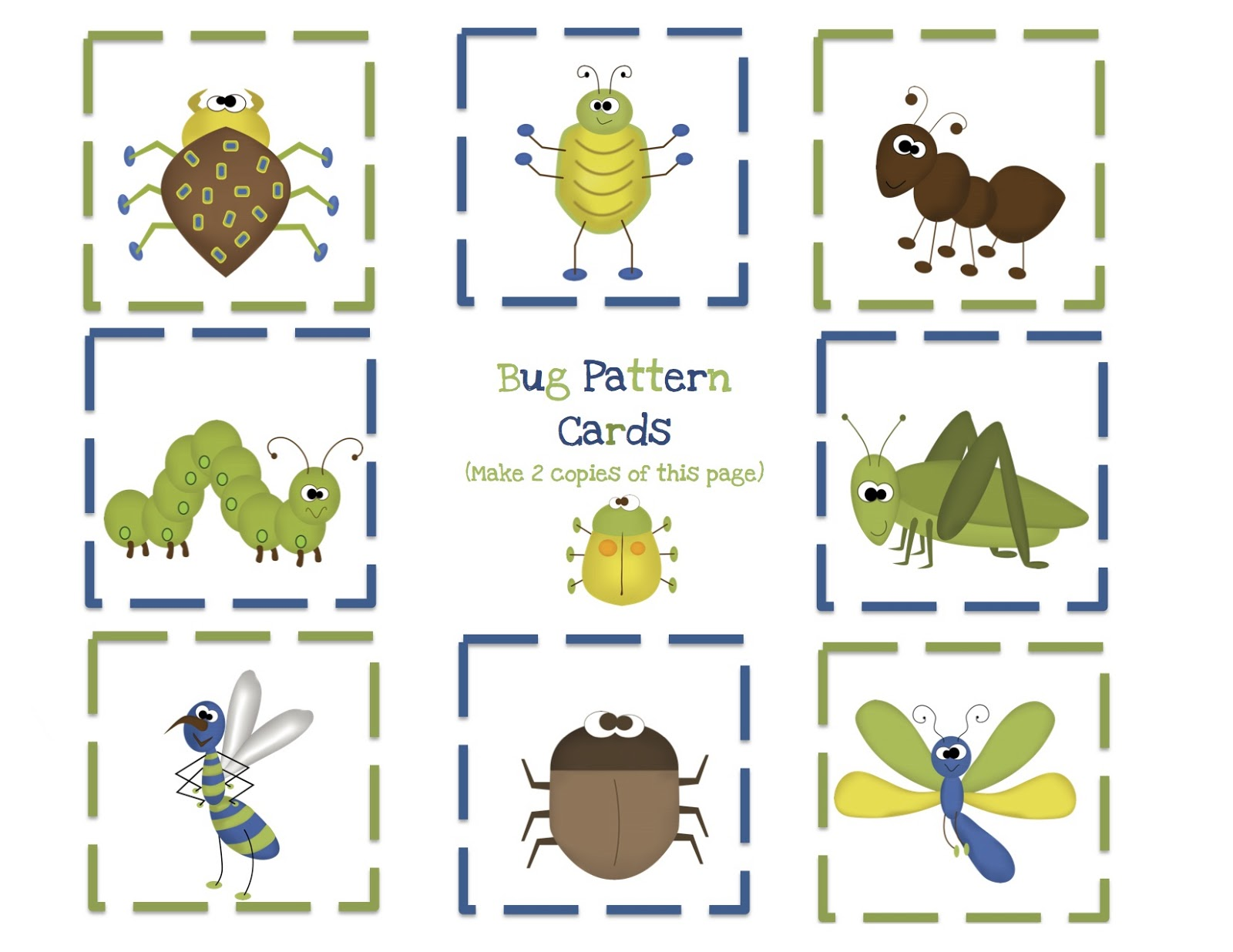 Preschool Printables And Insects