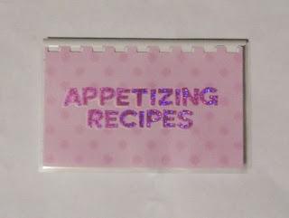 appetizing recipe book