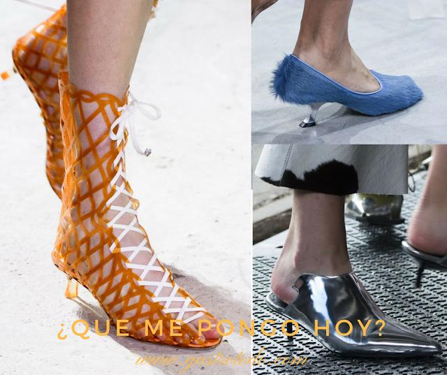 Botas, mules, zapatos .. todos siguen la tendencia de la primavera.