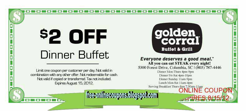 Expired Golden Corral Coupons