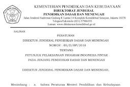 Download Juknis Program Indonesia Pintar (PIP) Tahun 2018 Jenjang SD SMP SMA SMK Terbaru