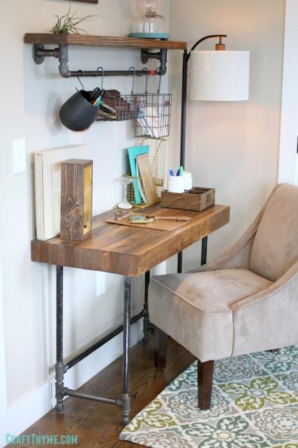 industrial wood metal desk tutorial