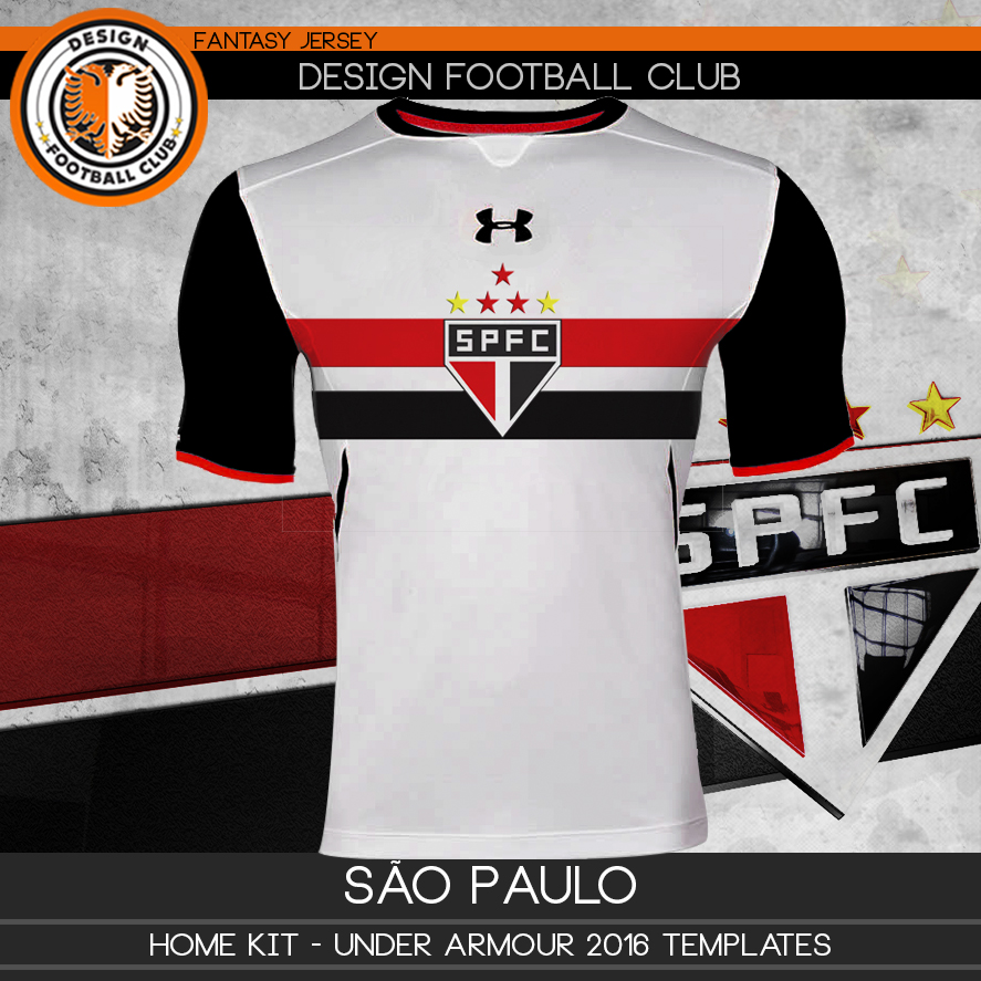 d7341808a49 Design Football Club  São Paulo - Under Armour 2016 2017