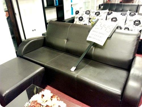 Half Leather L Shaped Sofa Rm449 Harga Asal Lagi Mahal Tapi Sebab Stock Clearance Kan