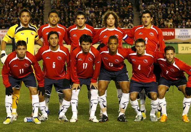 Formación de Chile ante Japón, amistoso disputado el 26 de enero de 2008