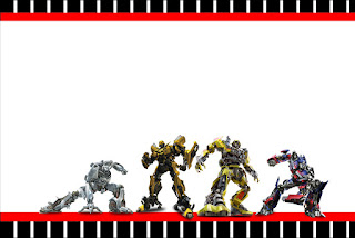 Para hacer invitaciones, tarjetas, marcos de fotos o etiquetas, para imprimir gratis de Transformers.