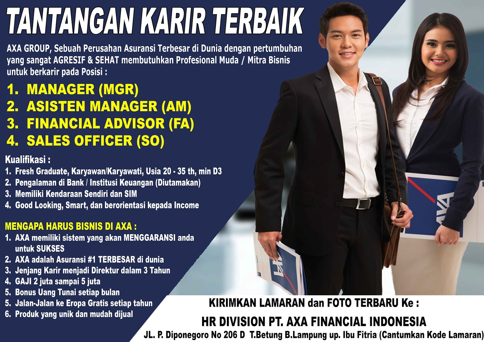 JOB IN LAMPUNG AXA GROUP