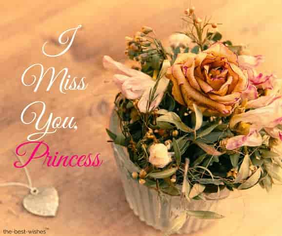 i miss you my princess
