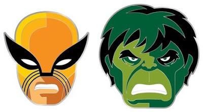 1st Appearance Wolverine & Hulk Marvel Portrait Enamel Pins by Tom Whalen & Mondo