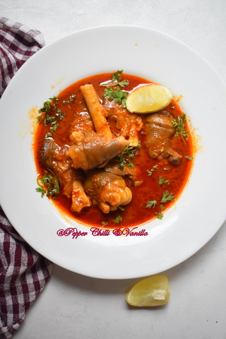 mutton paya masala recipe