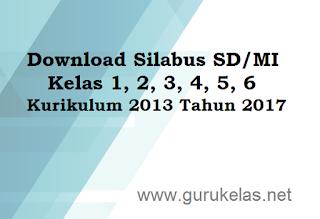 Download Silabus SD/MI Kelas 1, 2, 3, 4, 5, 6 Kurikulum 2013 Tahun 2017