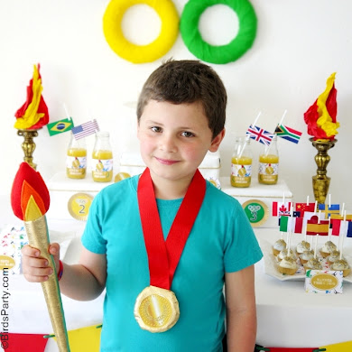 Olympic Torch & Gold Olympic Medals DIY Tutorial