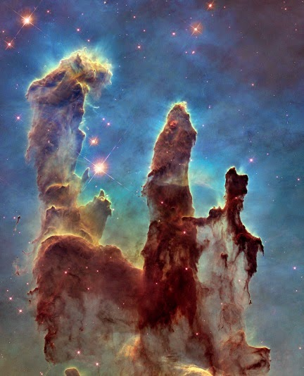 "NASA, ESA, and The Hubble Heritage Team (STScI / AURA). Misnamed ""Pillars of Creation"" are touted as stellar nurseries. But nobody has seen a star form. In fact, a young universe from a biblical creationist perspective fits the observed data better than secularist speculations from preconceptions."
