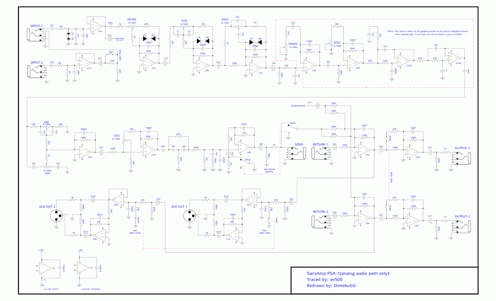 Usr Local Tech 21 Sansamp Psa 1 Pcb Traces And Schematics