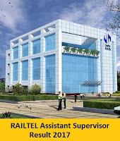 RAILTEL Assistant Supervisor Result