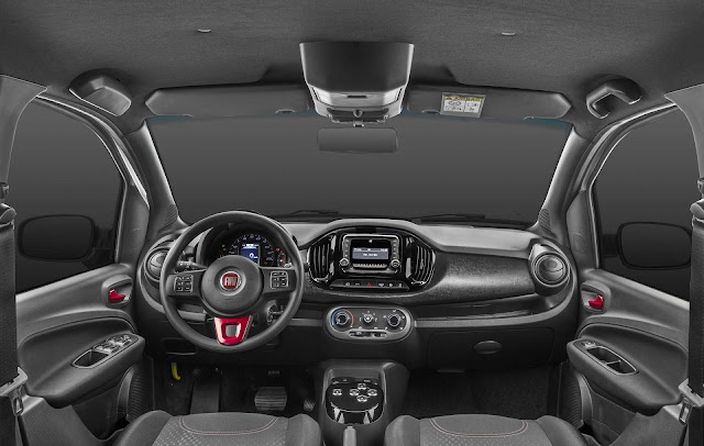 Novo Fiat Uno Way Flex 2018 - interior