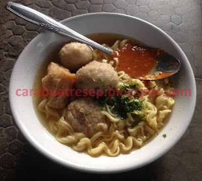 Foto Resep Mie Bakso Cuanki Bandung Sederhana Spesial Asli Enak