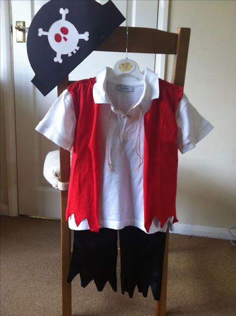 disfraz de pirata hecho en casa
