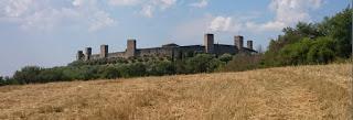 Visión panorámica de Monteriggioni.
