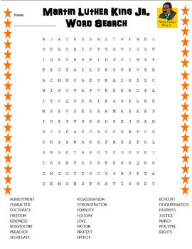 image regarding Martin Luther King Word Search Printable identify The Excellent of Trainer House owners III: Absolutely free LANGUAGE ARTS