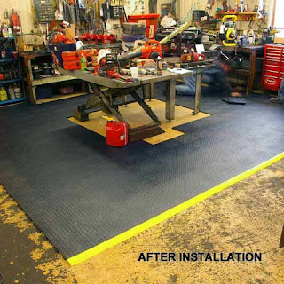Greatmats Staylock Bump top plastic tile basement workshop floor