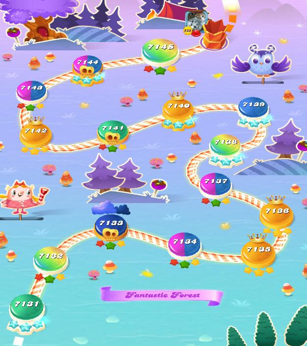 Candy Crush Saga level 7131-7145