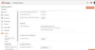 ID Properti  Web Analystics